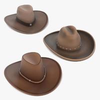 cowboy hats 3d model
