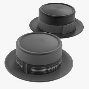 porkpie hats 3d 3ds