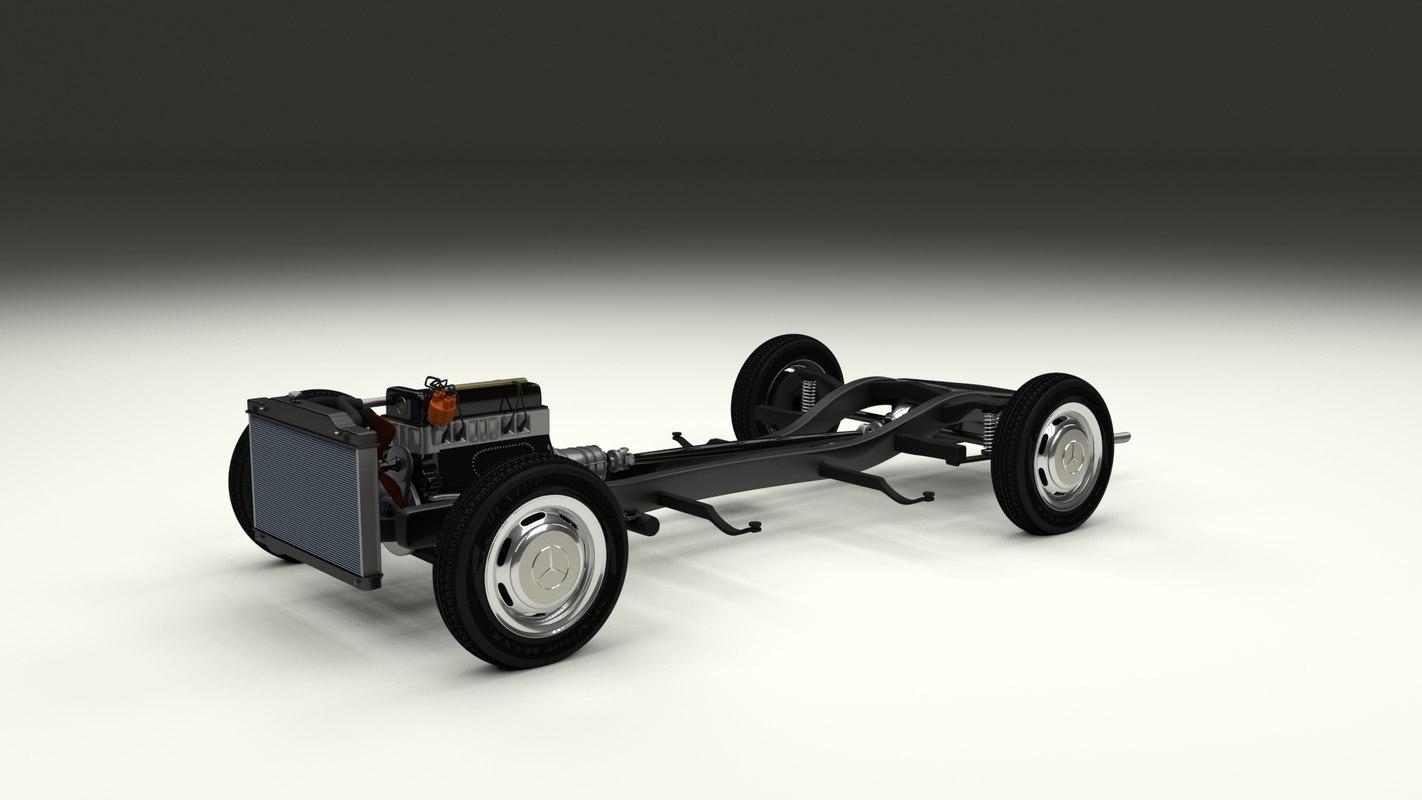 mercedes 190sl chassis obj