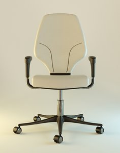 office simple chair 3d obj