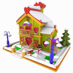 cartoon love house 3ds