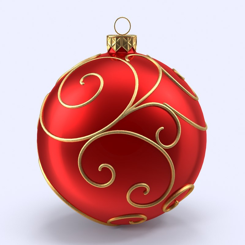 christmas ball 3d model - Christmas Ball Decorations