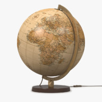 world globe lamp antique 3ds