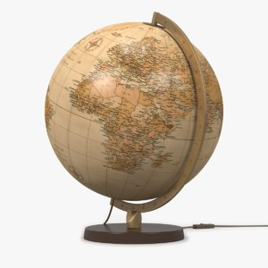 world globe lamp antique 3ds