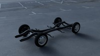 3d model mercedes 190sl chassis