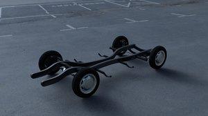 3d model mercedes 190sl chassis