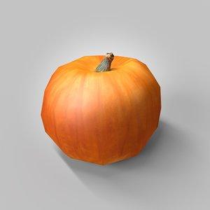 3d model pumpkin polygons 170