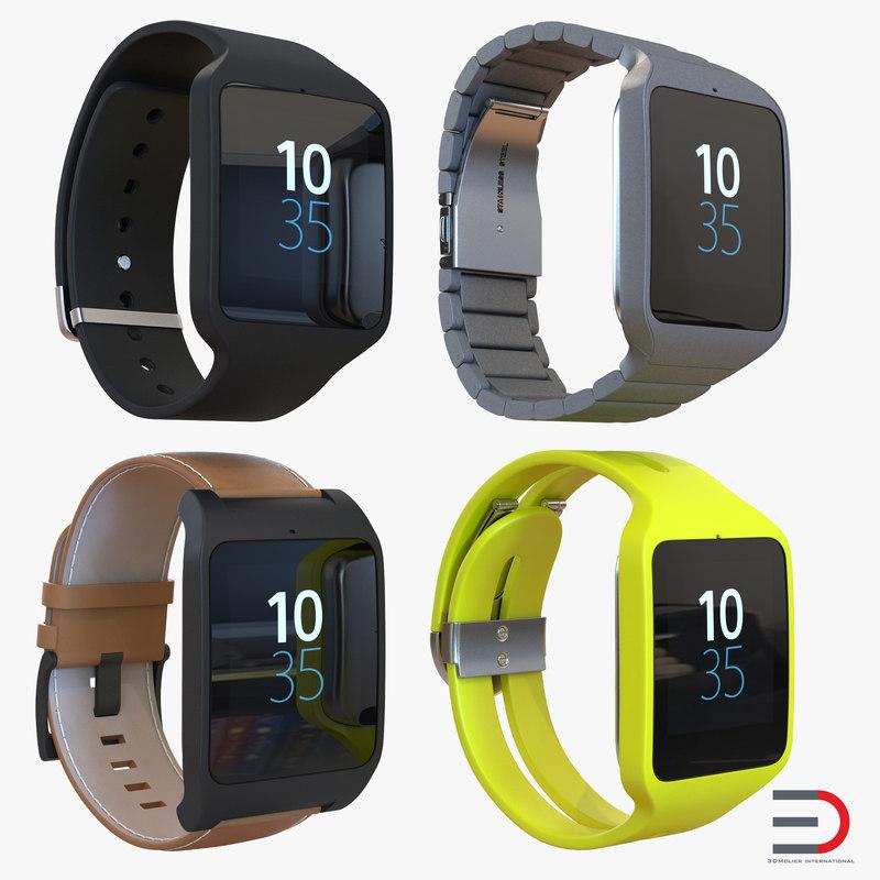 sony smartwatch 3d model