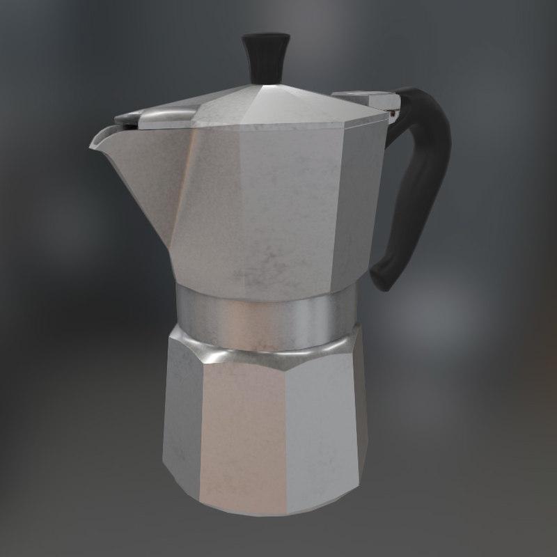 italian kettle 3d obj