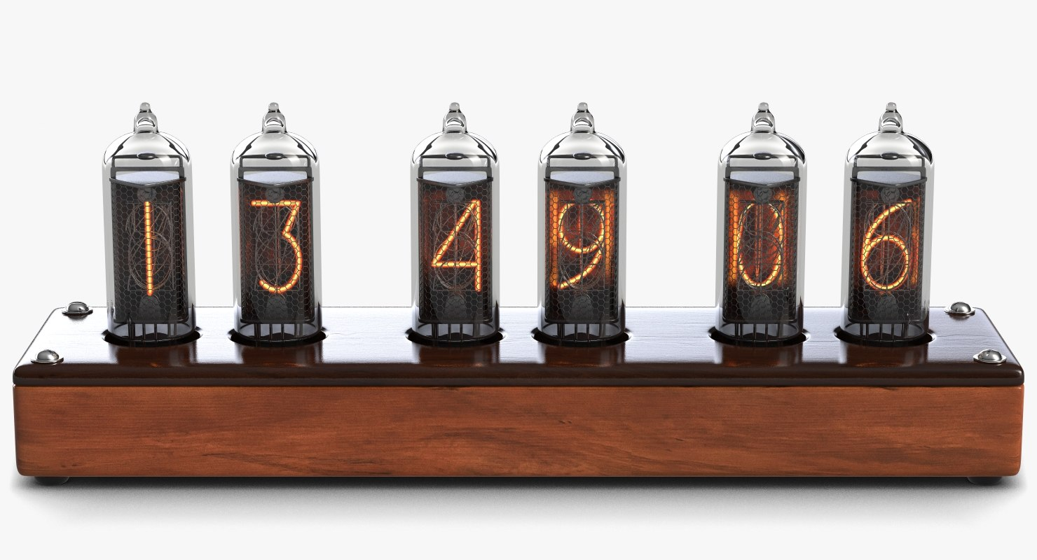 3ds max steampunk retro clock nixie