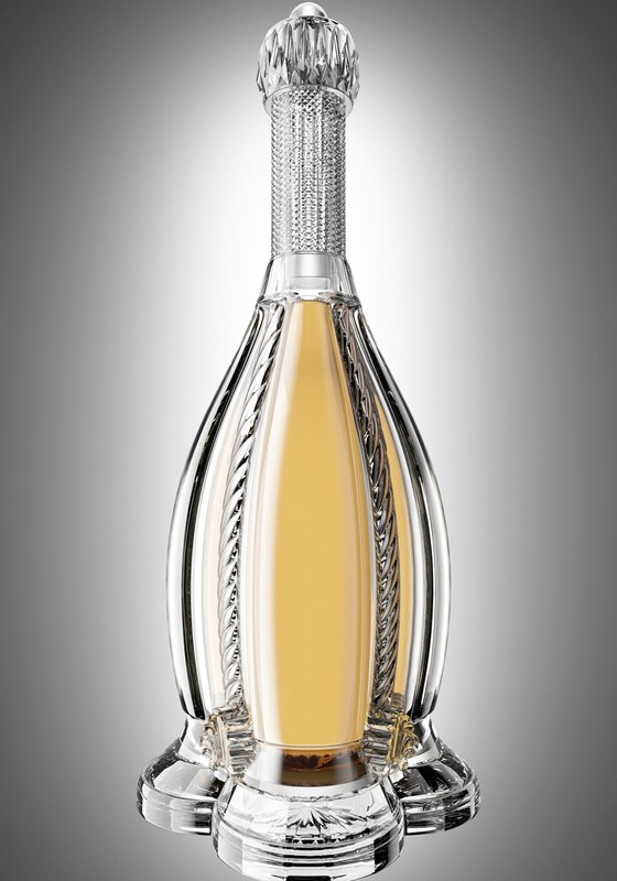 cognac bottle obj