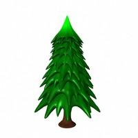 free cartoon tree 3d model