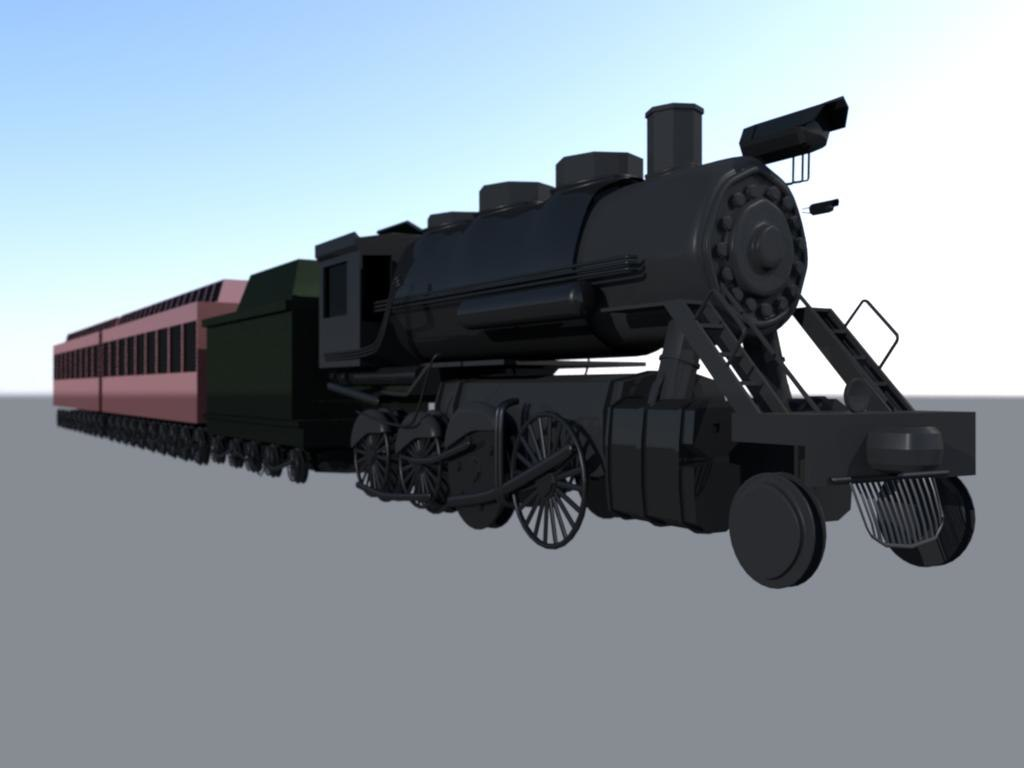 steam train 3d ma
