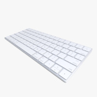 3d realistic 2015 wireless apple keyboard model