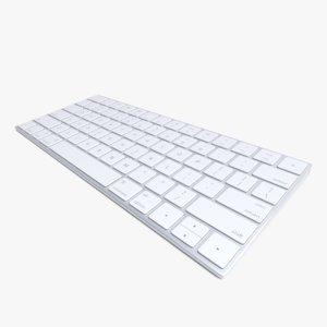 3d realistic 2015 wireless apple keyboard model