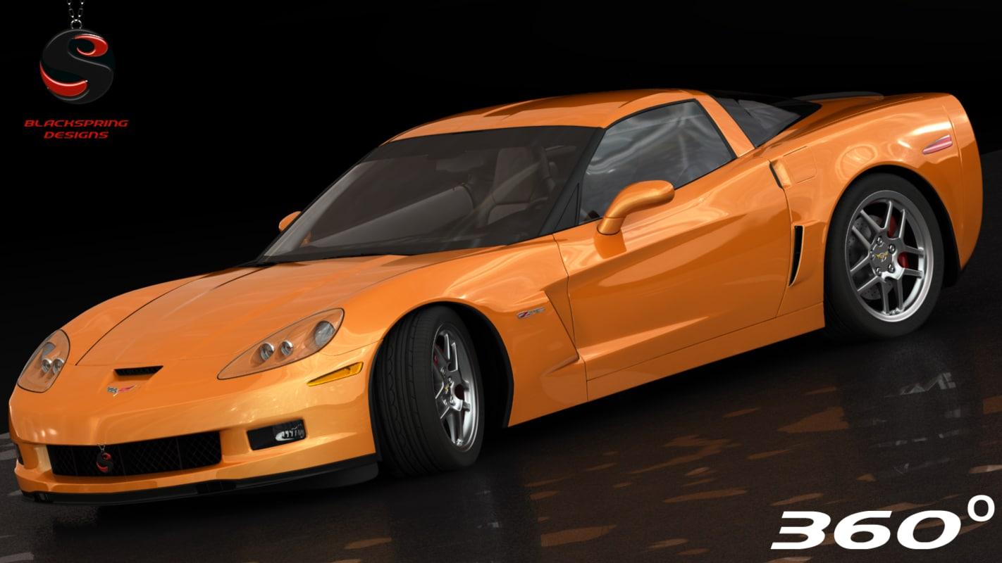 chevrolet corvette z06 2005 obj