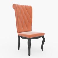 3d vintage chair