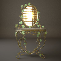 dressing table mirror 3d max