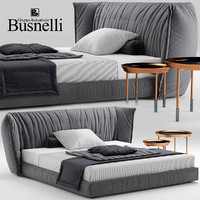 bed sedona busnelli 3d model