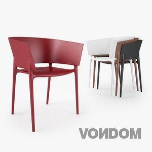 vondom africa silla chair seat 3d x