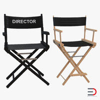 director chairs 3d max