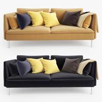 3d ikea soderhamn sofa seat