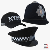 3ds max police hats