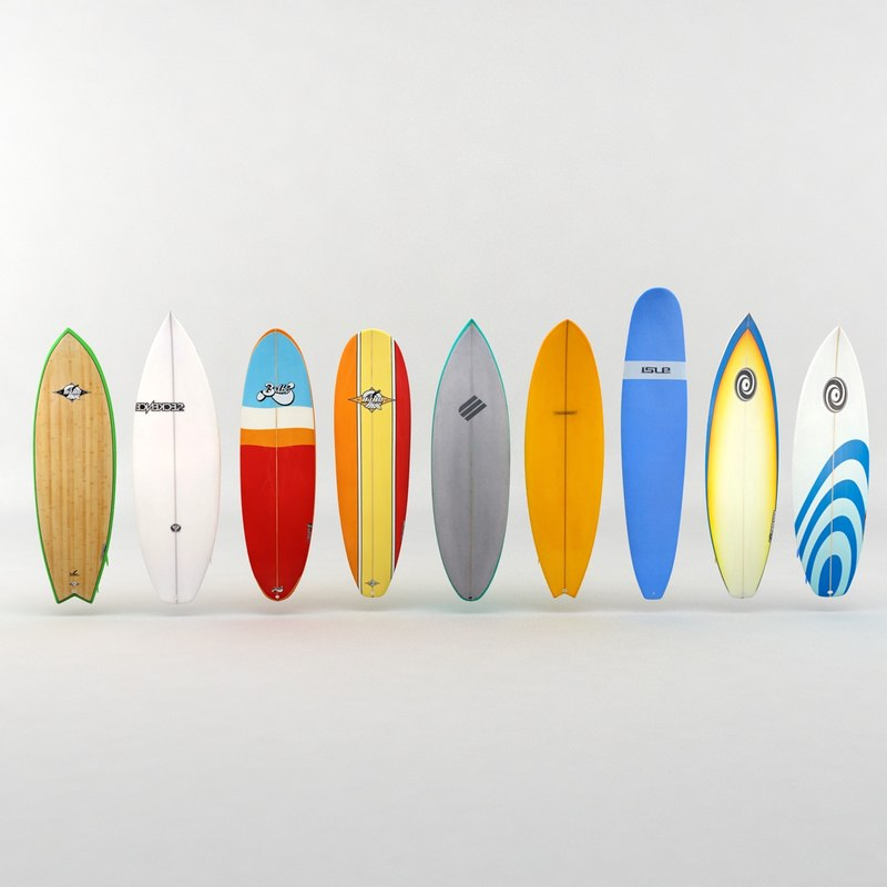 surf surfboard board 3d model