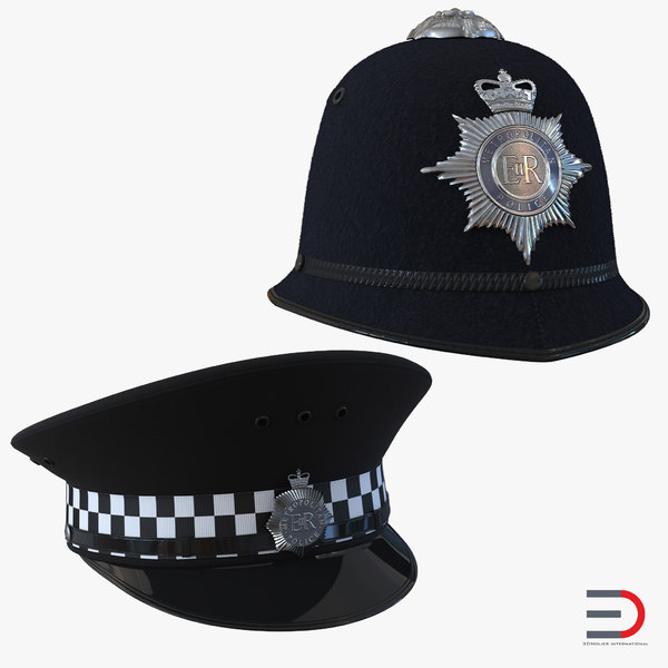 uk police hats 3ds