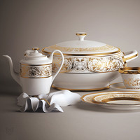 3d model crockery set