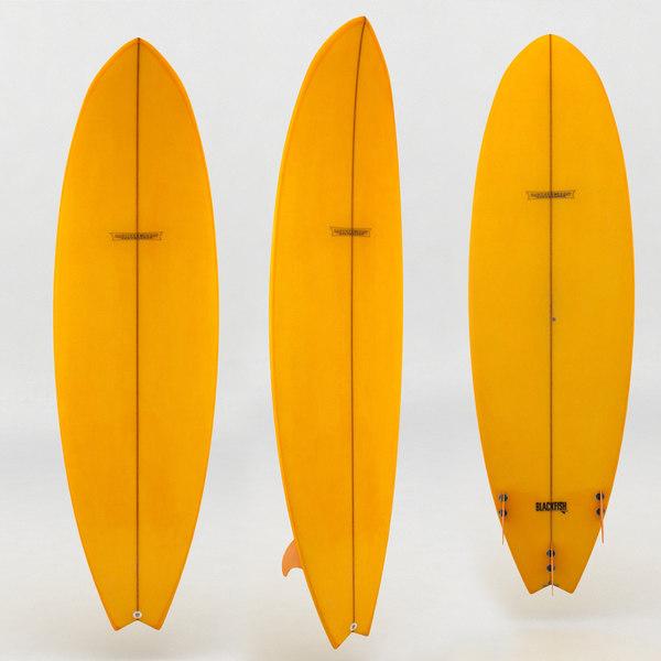 surfboard orange board max