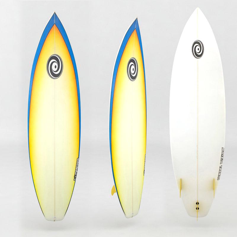 x surfboard orange blue board