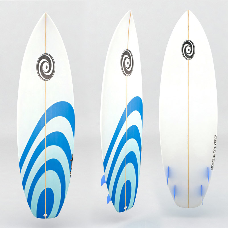 surfboard blue stripe white max
