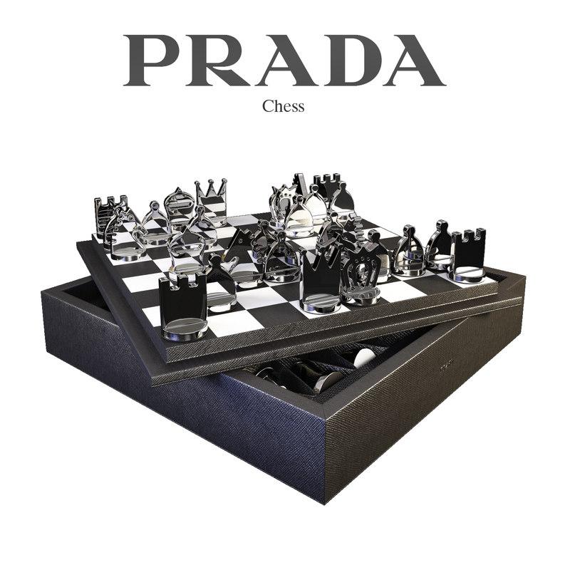 3d chess set prada