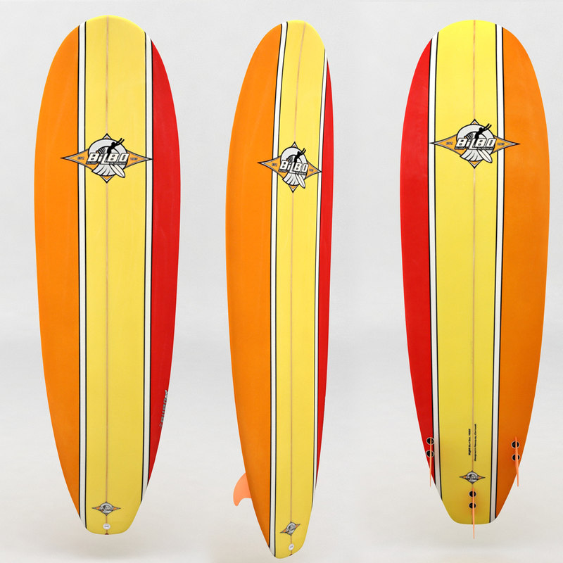surfboard orange yellow red max