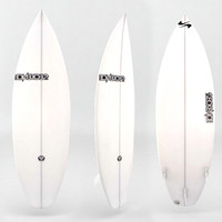 3d surfboard white board model