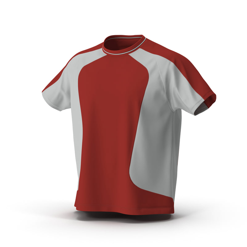 tshirt red 3d model