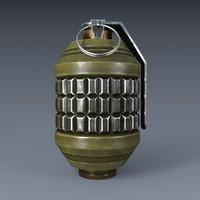3d max hand grenade