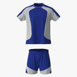 3d soccer uniform blue 2