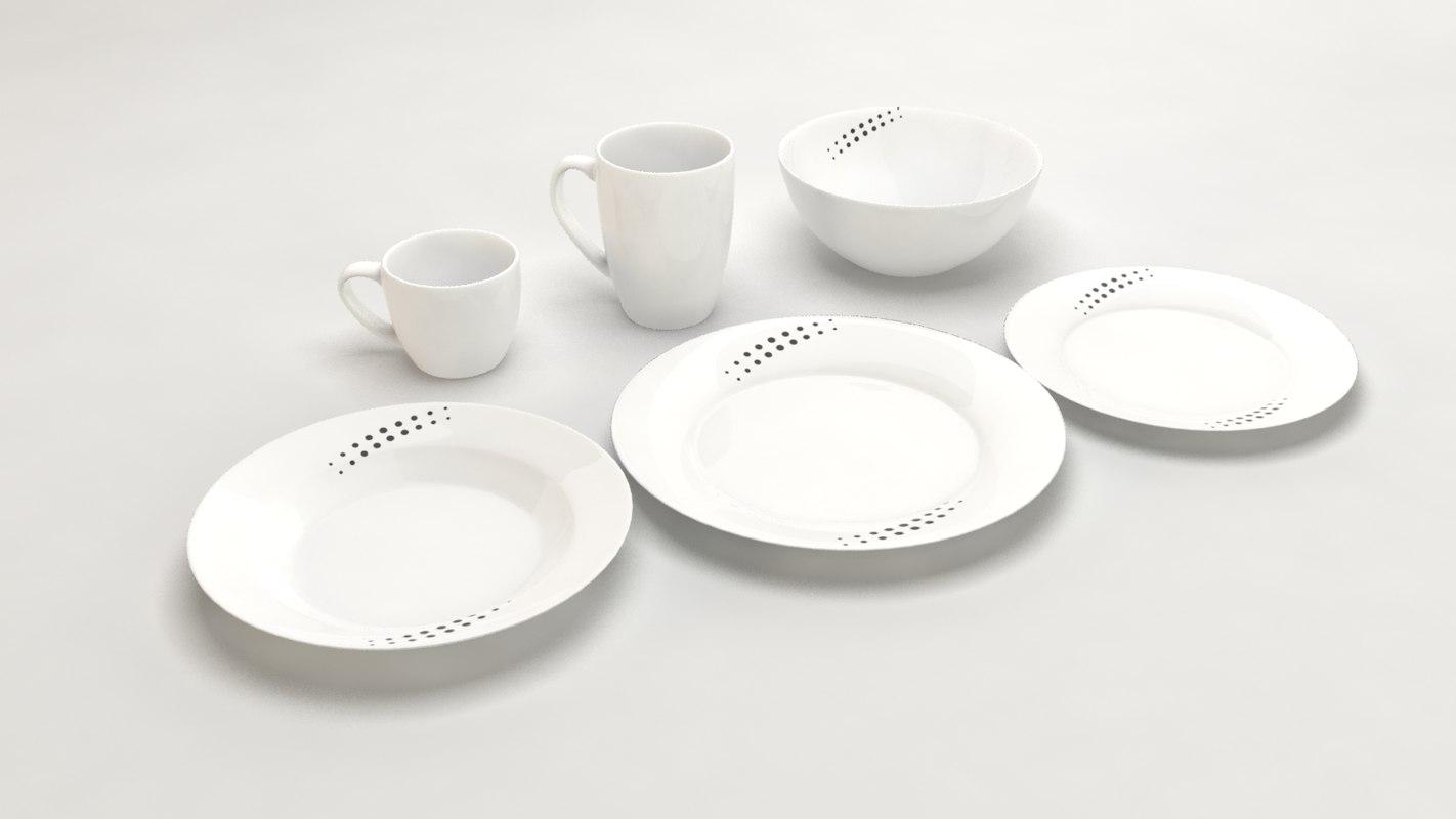 3d design dishes
