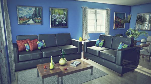 livingroom room obj