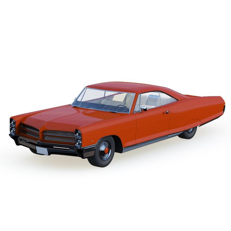 pontiac bonneville 1965 3d model
