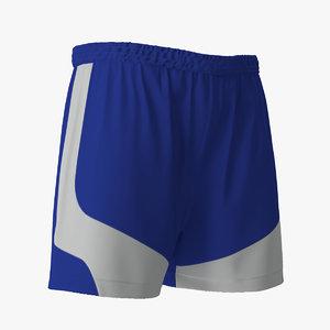 soccer shorts blue obj