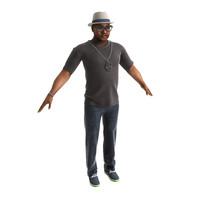 character gerald gta 3d model