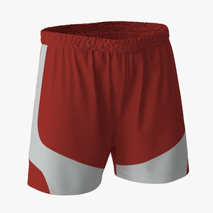 soccer shorts red c4d