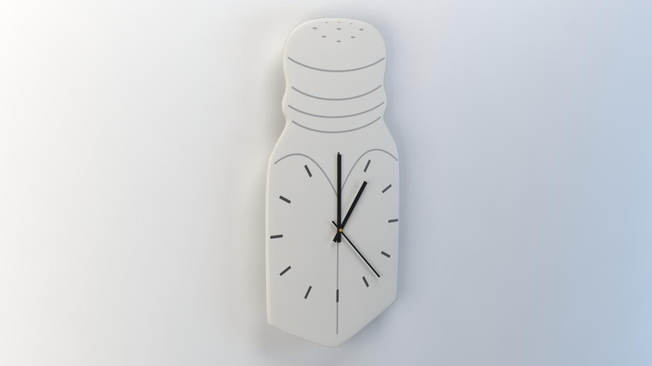 3ds wall clock salt cellar