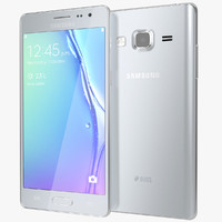 realistic samsung z3 silver 3d model