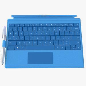 3d microsoft surface 3 keyboard
