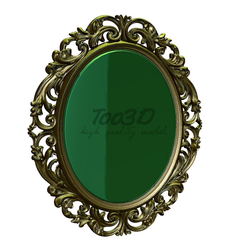 old picture frame 3d max