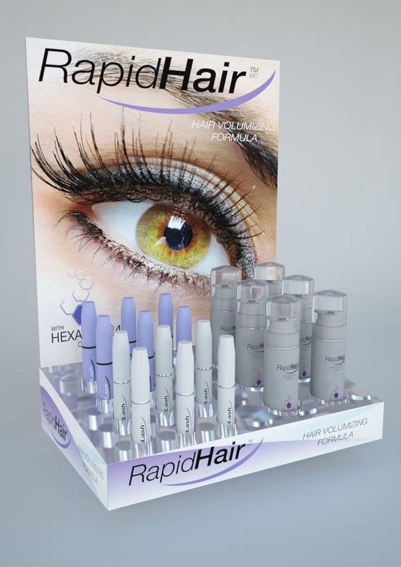 3d display hair volumizer model